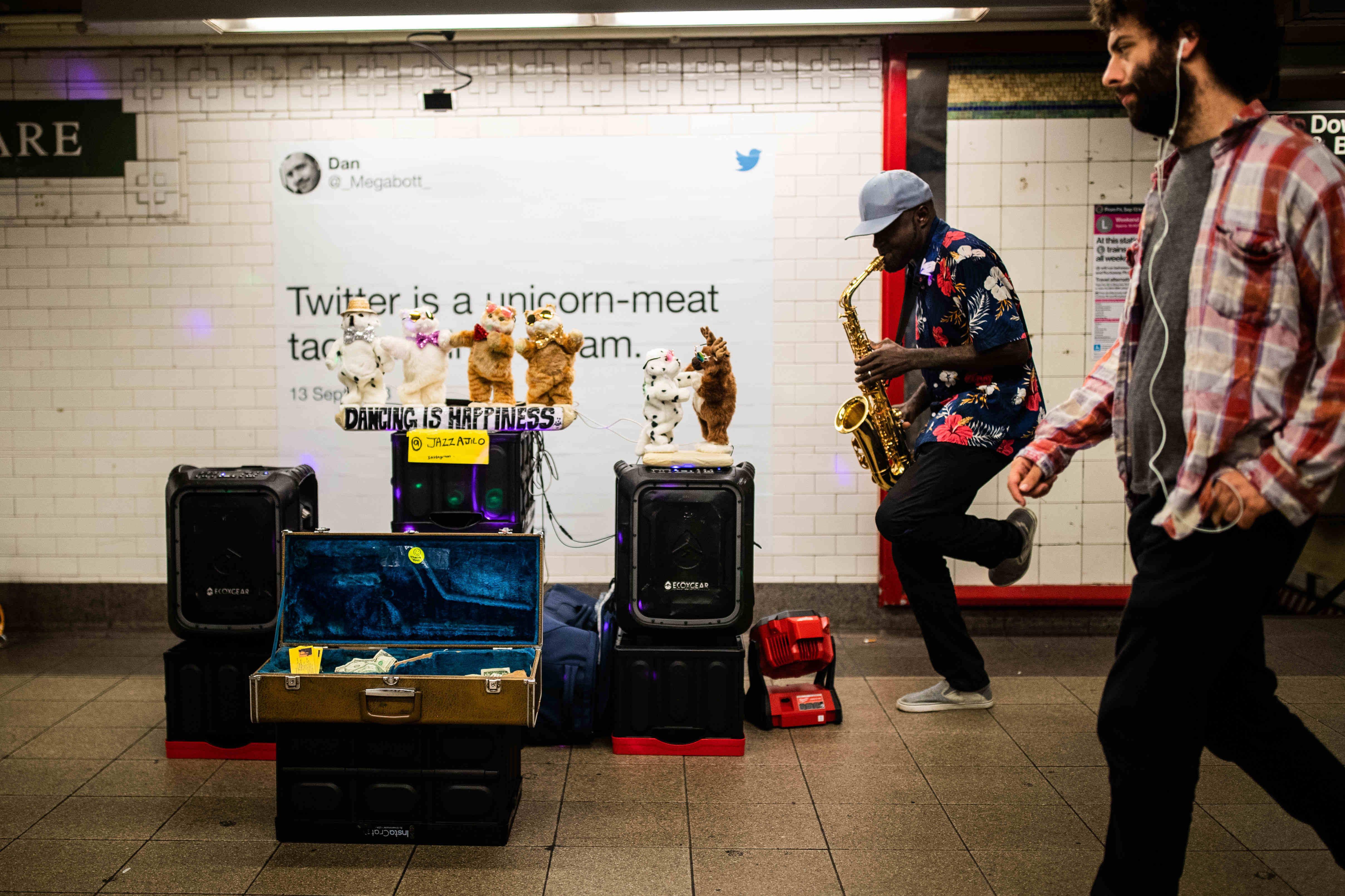 Уличные музыканты Нью-Йорка: репортаж Евгения Фельдмана